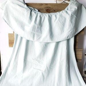 Light Blue off sholder dress